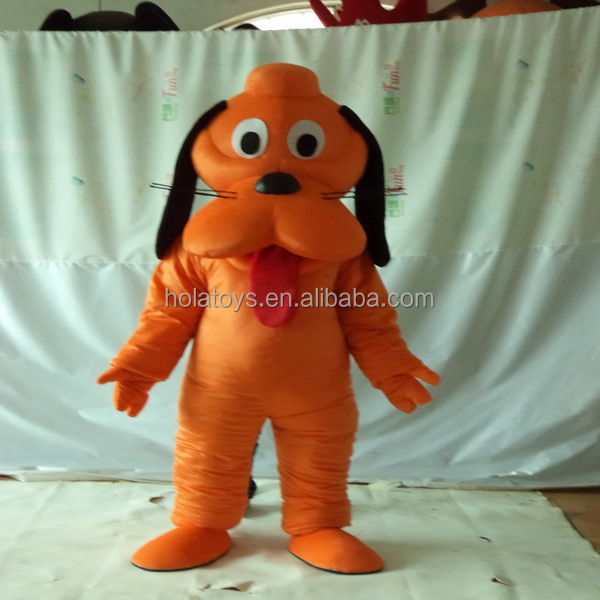 Black dog friend adult dog costume/costume/mascot costume