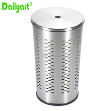 round clothing metal laundry bin