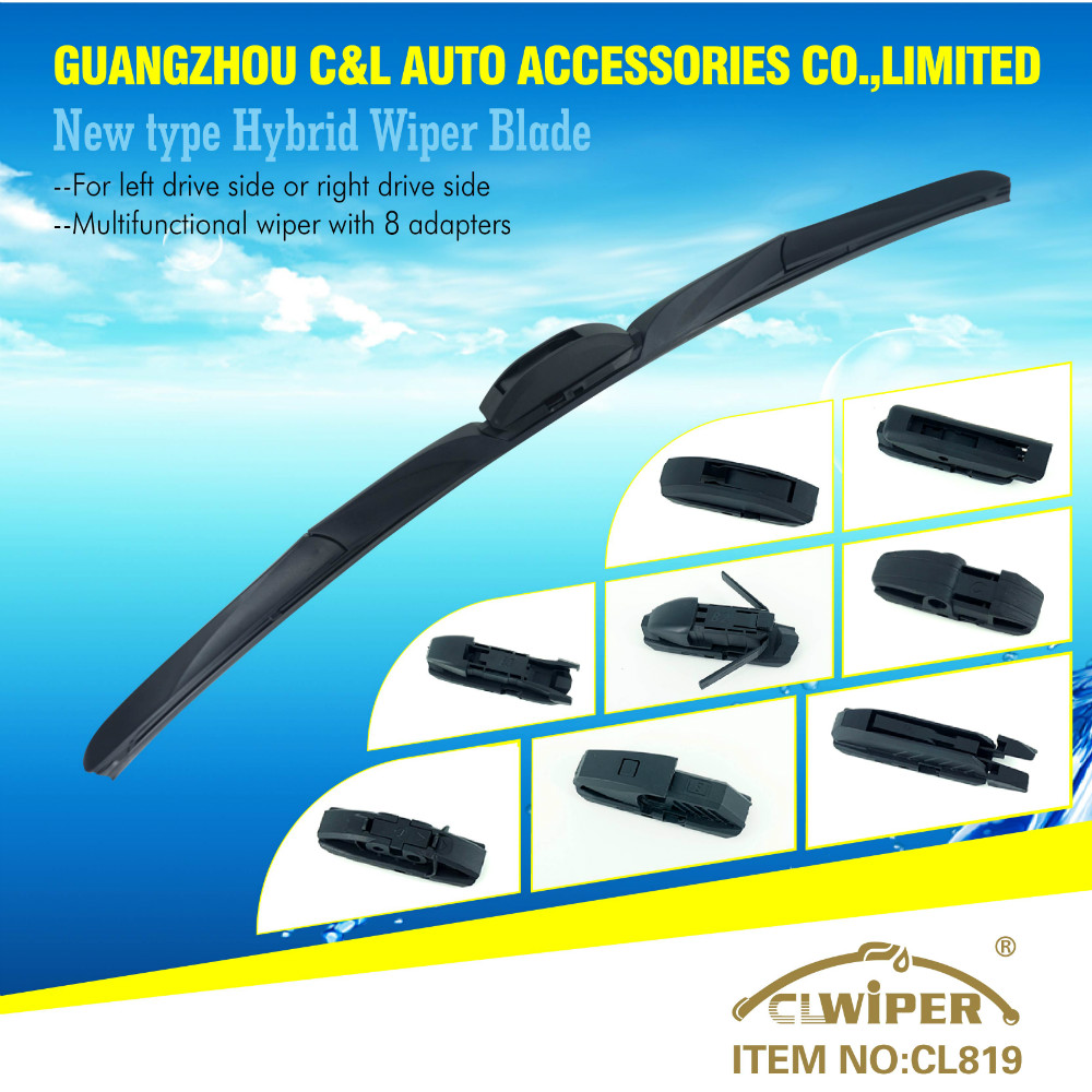CL819 Best toyota camry wiper blade with 8 adapters multifunctional windshield wiper