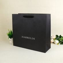Luxury shopping package Paper bag black paper bag matte