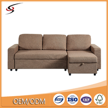 2018 living room furniture l shape sleeper fabric corner sofa
