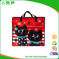 Eco friendly easy carry daily life supermarket sale cloth zipper bags