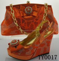 New shoes and matching bags fashion orange shoes and bags to match for party dress
