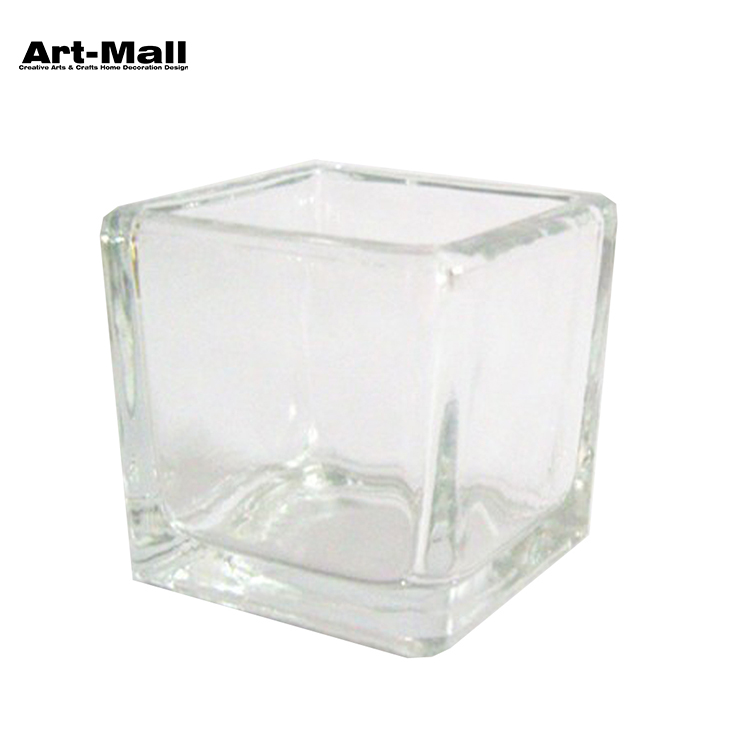 Excellent Material Clear Glass Candle Holder For Party Decoration