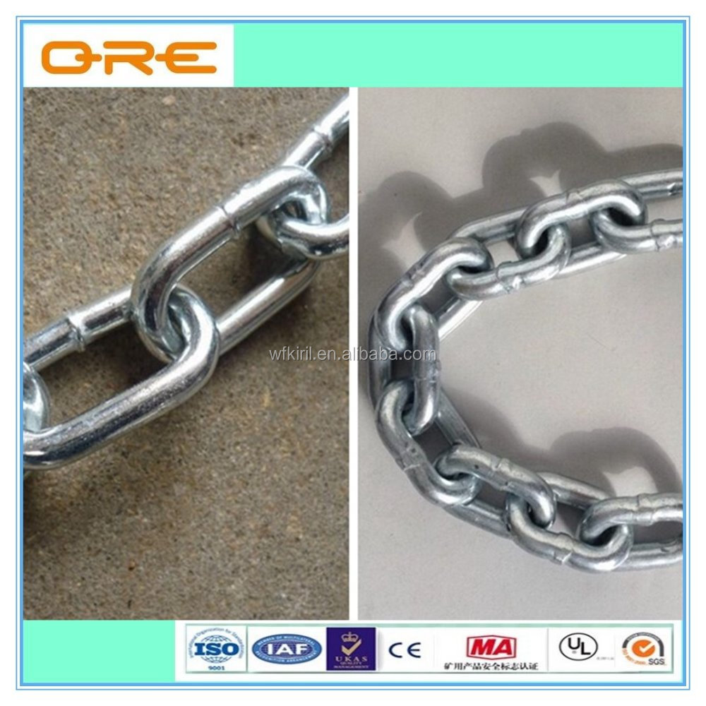 Welded Galvanized Steel British Standard Iron Link Chain