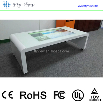 "42"" capacitive interactive touch screen table/table with touch screen/multi touch screen table"