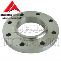 Gr2 Pure Titanium flange DIN2636 for machine parts