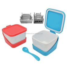 Plastic injection kitchen seasoning box salt shaker with spoon mould mold maker manufacturer factory supplier