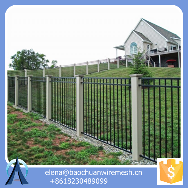 metal fence post extensions / Iron Square Tube Fence Panels