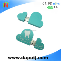 Cloud shape usb flash drive with both side logo printing