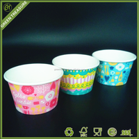 hot sale ice cream cup with dome lid high quality ice cream cups with lids single wall paper cup for frozen yogurt
