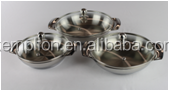 New product stainless steel cookware sets cast handle egg pan with glass lid