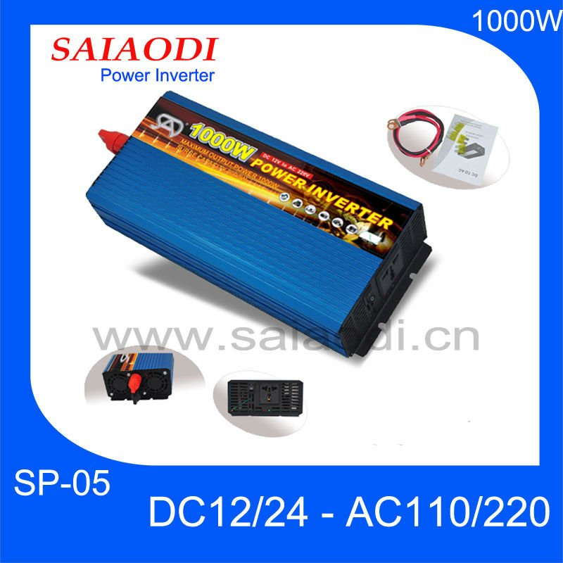 High quality 1000W Power Inverter PURE SINE WAVE 12v 24v 48v Input optional