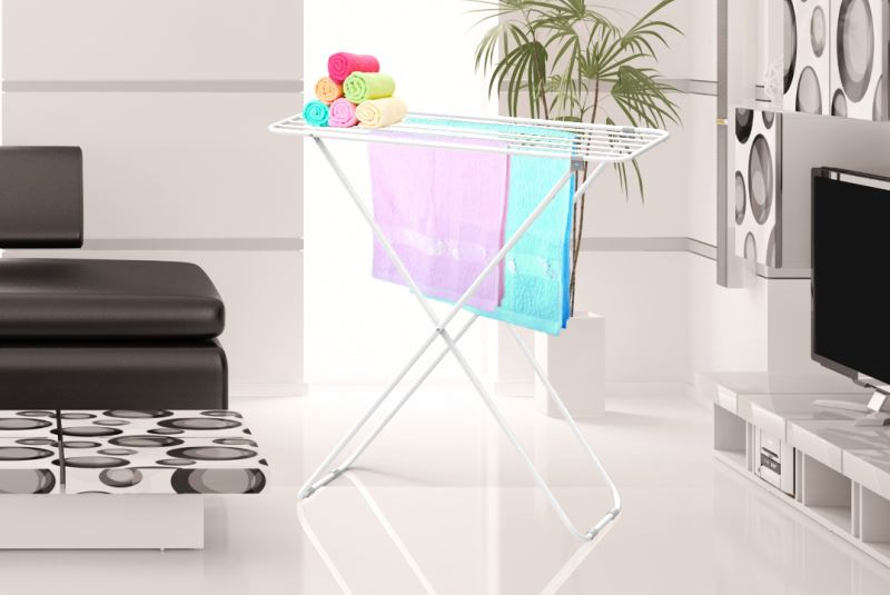 Online shopping fashion modern stand ironing plastic clothes drying rack