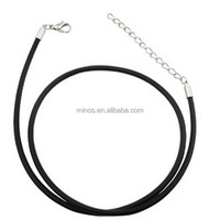 Fashion Jewelry Fitting cord with Plated Lobster lasps Jewelry Rubber Cord Necklace