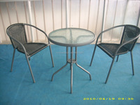 leisure furniture sets popular rattan chair rattan raw material chair glass table