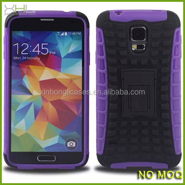 Hybrid 2-in-1 phone case for samsung galaxy S5 with china supplier