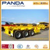 Panda 20ft 40ft Container Skeleton Semi Trailer 2 Axles Roll Trailer for Sale