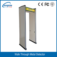 18 zones LCD screen walk through security scanner gate