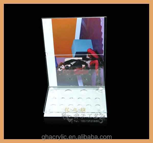 New arrival on alibaba acrylic cosmetic display stand for revlon