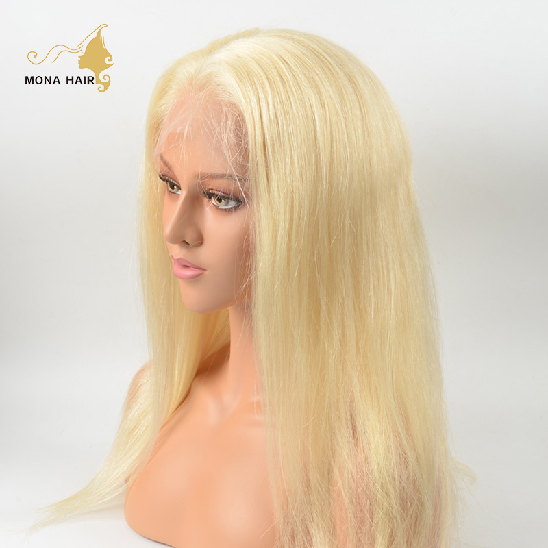 Highest quality Russian straight blonde wig, no tangle no shedding 613 full lace wig human <strong>hair</strong>
