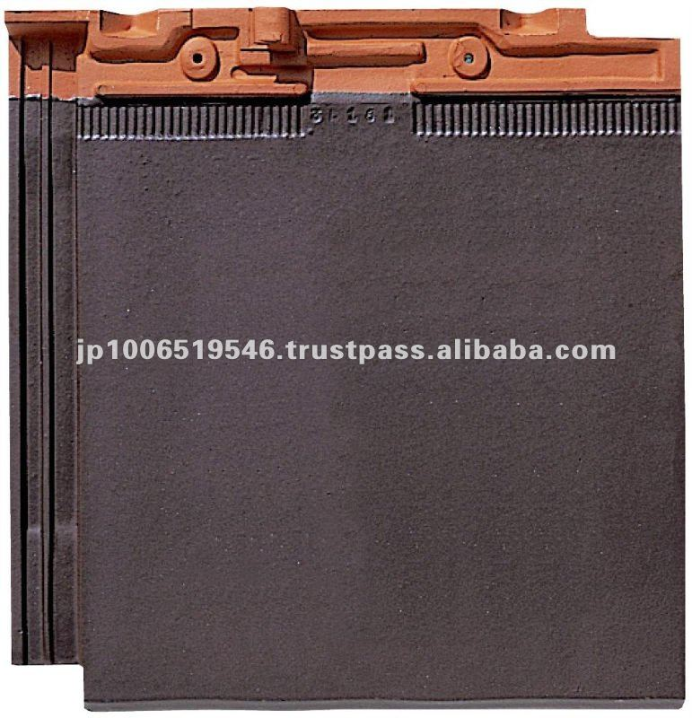 ceramic tiles roofing / Colored roof tiles of modern design ( CERAM FF Brown color )