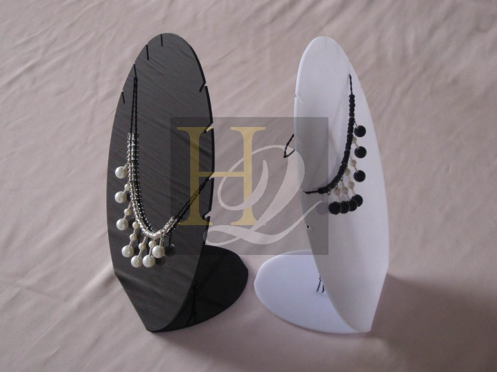 black white color acrylic jewelry display stand/acrylic necklace display