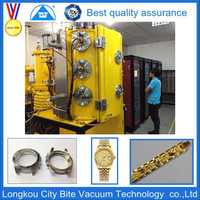 wristwatch Gold color vacuum metalizing equipment/jewellery ion sputtering machine