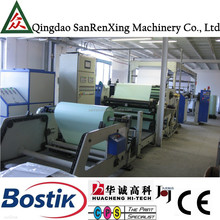 Compacted adhesive label stock hot melt adhesive coating machine for sale
