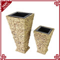 S&D 100% handmade square shaped funny flower pot