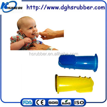 silicone rubber baby toothbrush LFGB and FDA approved silicone baby banana toothbrush