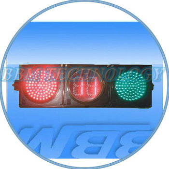 200mm full ball traffic light with countdown timer