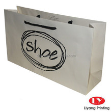 custom printed white paper shoping Bags with your own logo Printing