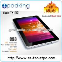 "10.1"" 1.2 Ghz Dual Core C93 tablet with CE and ROHS"