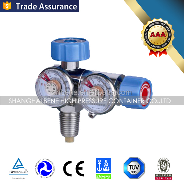 high quality gas safety device medical oxygen regulator with flowmeter