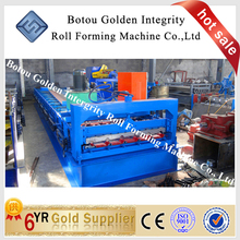 China Metal glazed roof tile cold roll forming machine for building, steel tile making machine