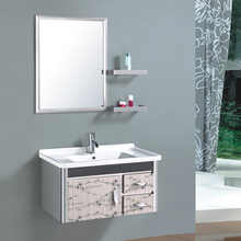 Hotel Furniture One Piece Vanity Top Stainless Steel Bathroom Sink