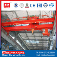 Cheap Cost Double girder overhead travelling crane with strong trolley (EOT crane, bridge crane)