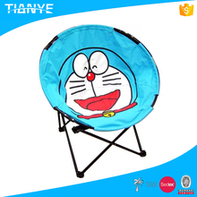 hot sell light popular metal portable comfortable reading round cartoon animal moon outdoor kids folding chair