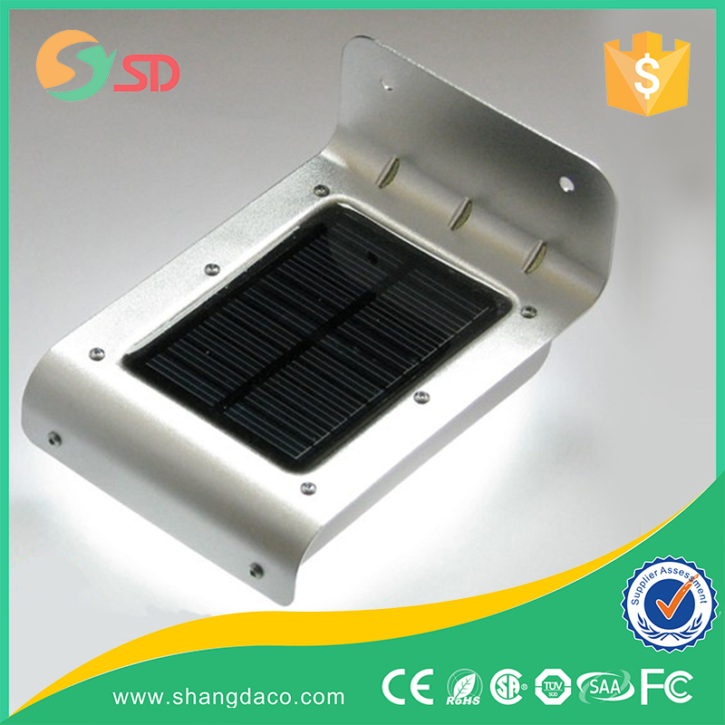 16 pcs high power motion sensor led solar lamp