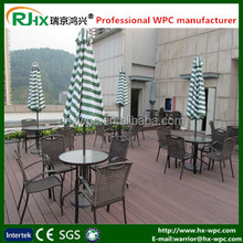 2016 eco-friendly non-slip wood composite decking tiles/cheap composite decking tiles