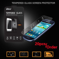 Vmax phone accessories free sample 0.33mm anti shock tempered glass for samsung galaxy S3 mini tempered glass screen protector