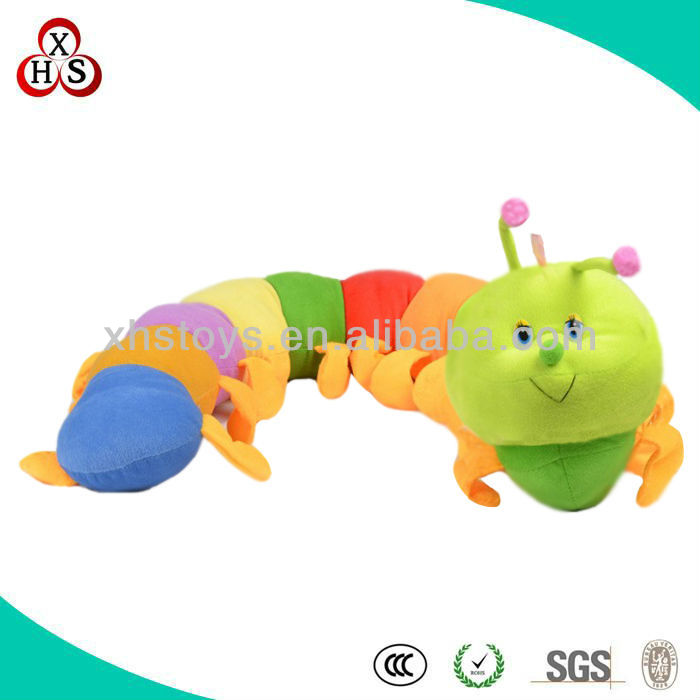 Cute vivid caterpillar Shaped Stuffed Toys WIth Blanket