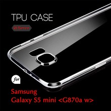 0.5mm Ultra Thin TPU Transparent Clear Protective Case for Samsung Galaxy S5 mini G870a w