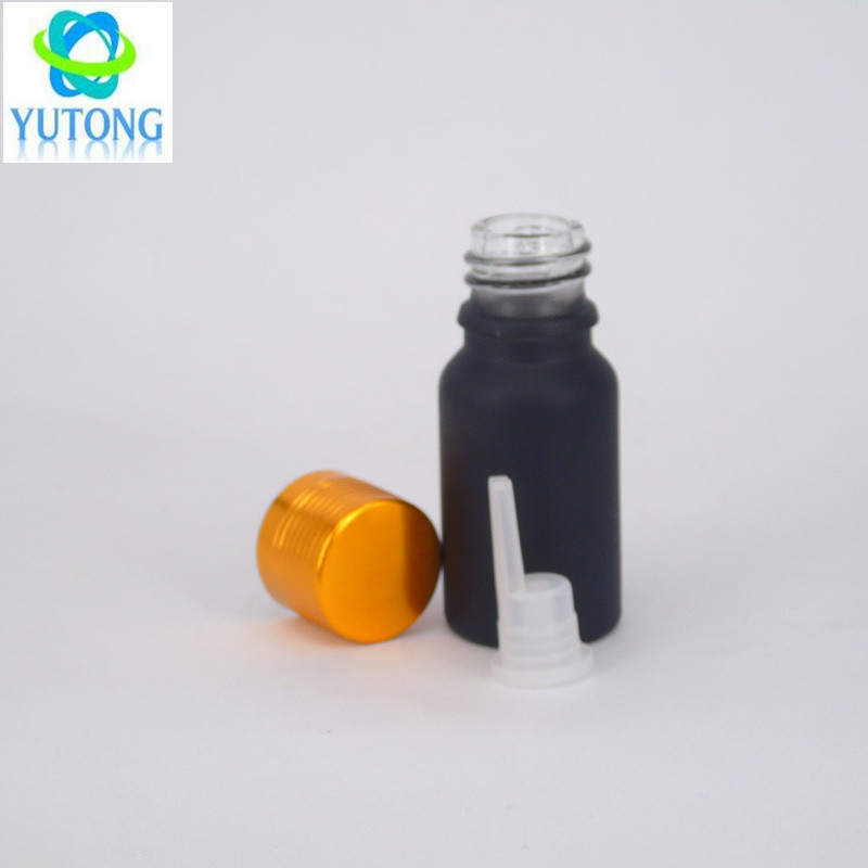 cosmetic serum essential oil matte black glass oil bottle