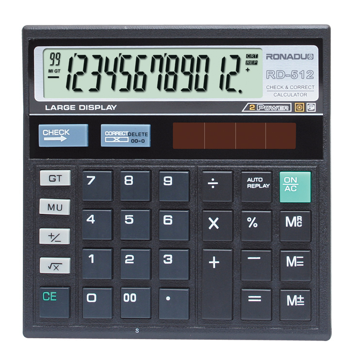 12-digits electronic calculate India hot sell tax & check desktop correct calculator ct-512