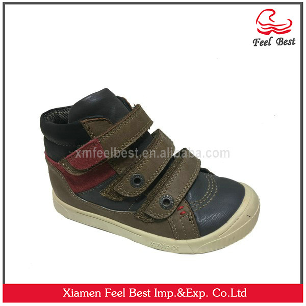 2017 New Style Wholesale China Kids Shoes PU Upper Sneakers