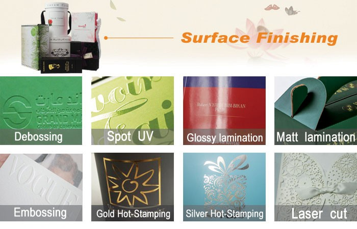 Surface finish for gift boxes