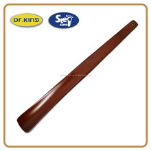 Red grass wood 35cm long handle use shoe horn
