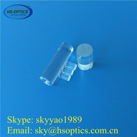 High temperature clear crystal quartz glass rod